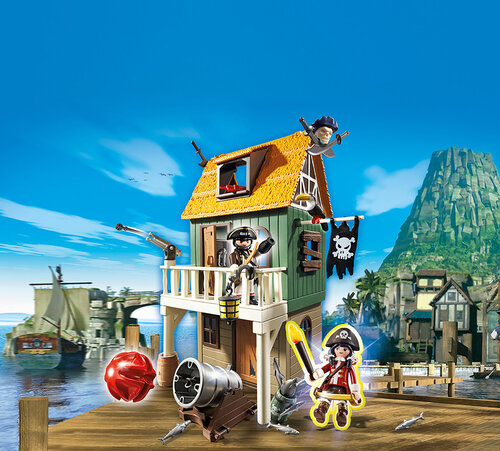 Playmobil Super 4 Camouflage Pirate Fort with Ruby 4796 #2