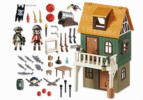 Playmobil Super 4 Camouflage Pirate Fort with Ruby 4796 #3