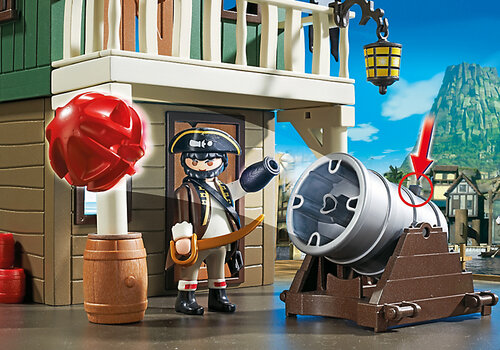Playmobil Super 4 Camouflage Pirate Fort with Ruby 4796 #5