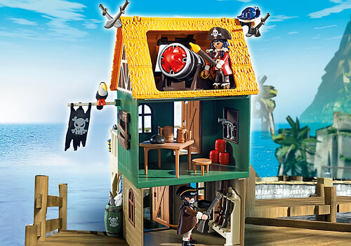 Playmobil Super 4 Camouflage Pirate Fort with Ruby 4796 #6