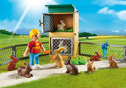 Playmobil Rabbit Pen with Hutch #2