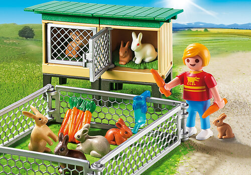 Playmobil Rabbit Pen with Hutch #3