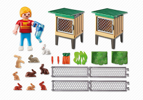 Playmobil Rabbit Pen with Hutch #4