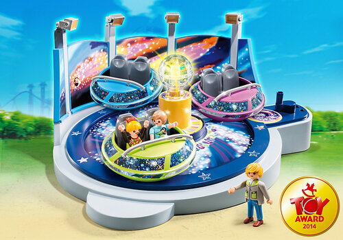Playmobil Summer Fun Spinning Spaceship Ride with Lights 5554 #2