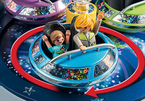 Playmobil Summer Fun Spinning Spaceship Ride with Lights 5554 #3