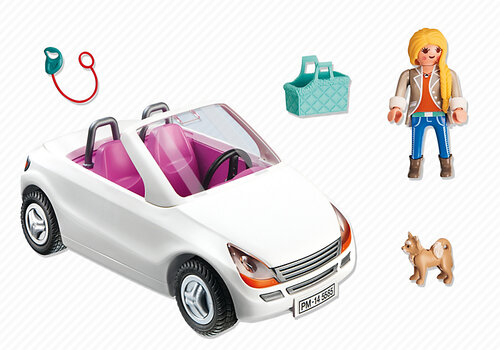 Playmobil City Life Convertible with Woman and Puppy 5585 #2