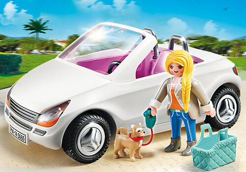 Playmobil City Life Convertible with Woman and Puppy 5585 #3