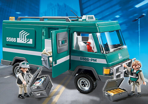 Playmobil City Action Money Transport Vehicle 5566 #5