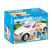 Playmobil City Life Convertible with Woman and Puppy 5585