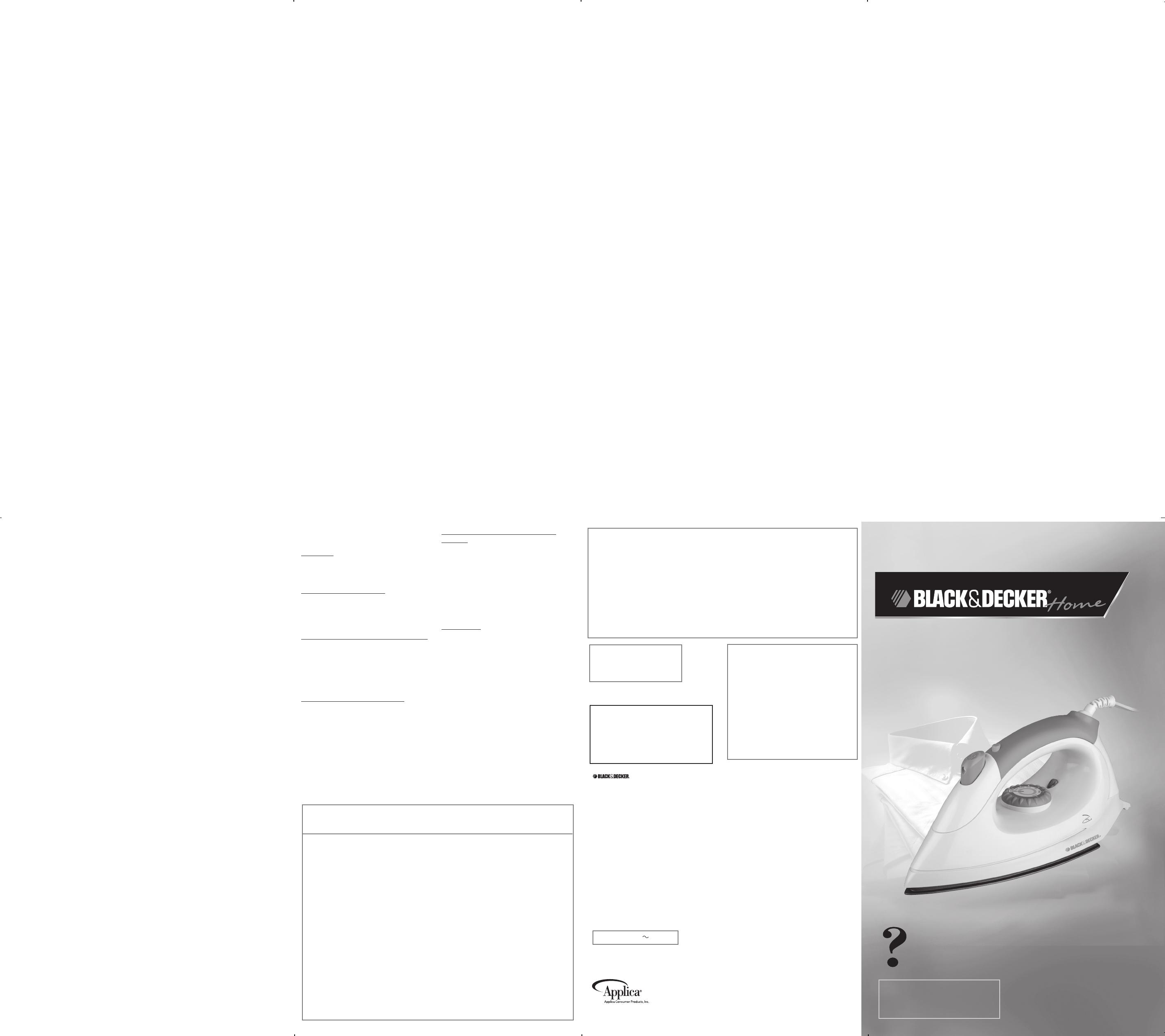 Manual Black  U0026 Decker Bdf150